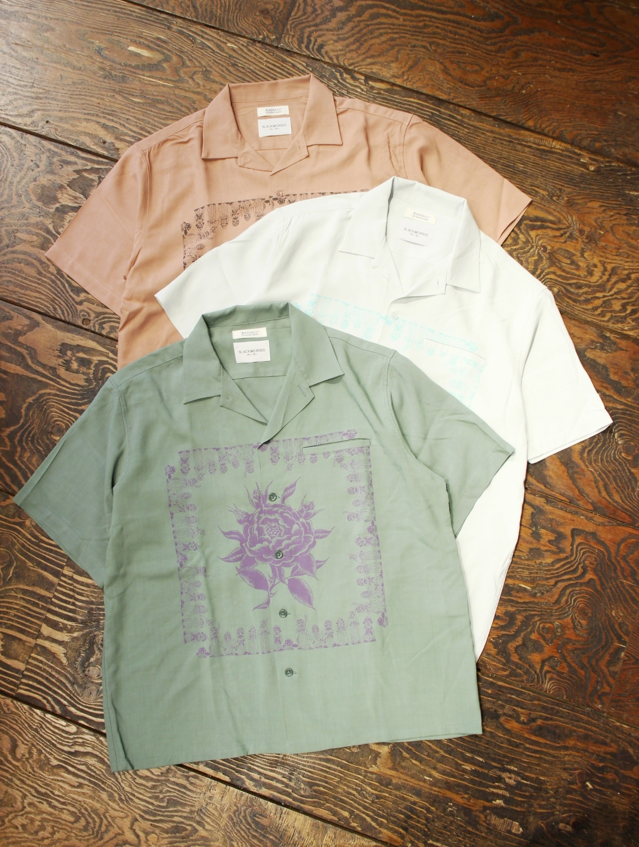 RADIALL 「CHICANO ROSE - OPEN COLLARED SHIRT S/S」  オープンカラーレーヨンシャツ