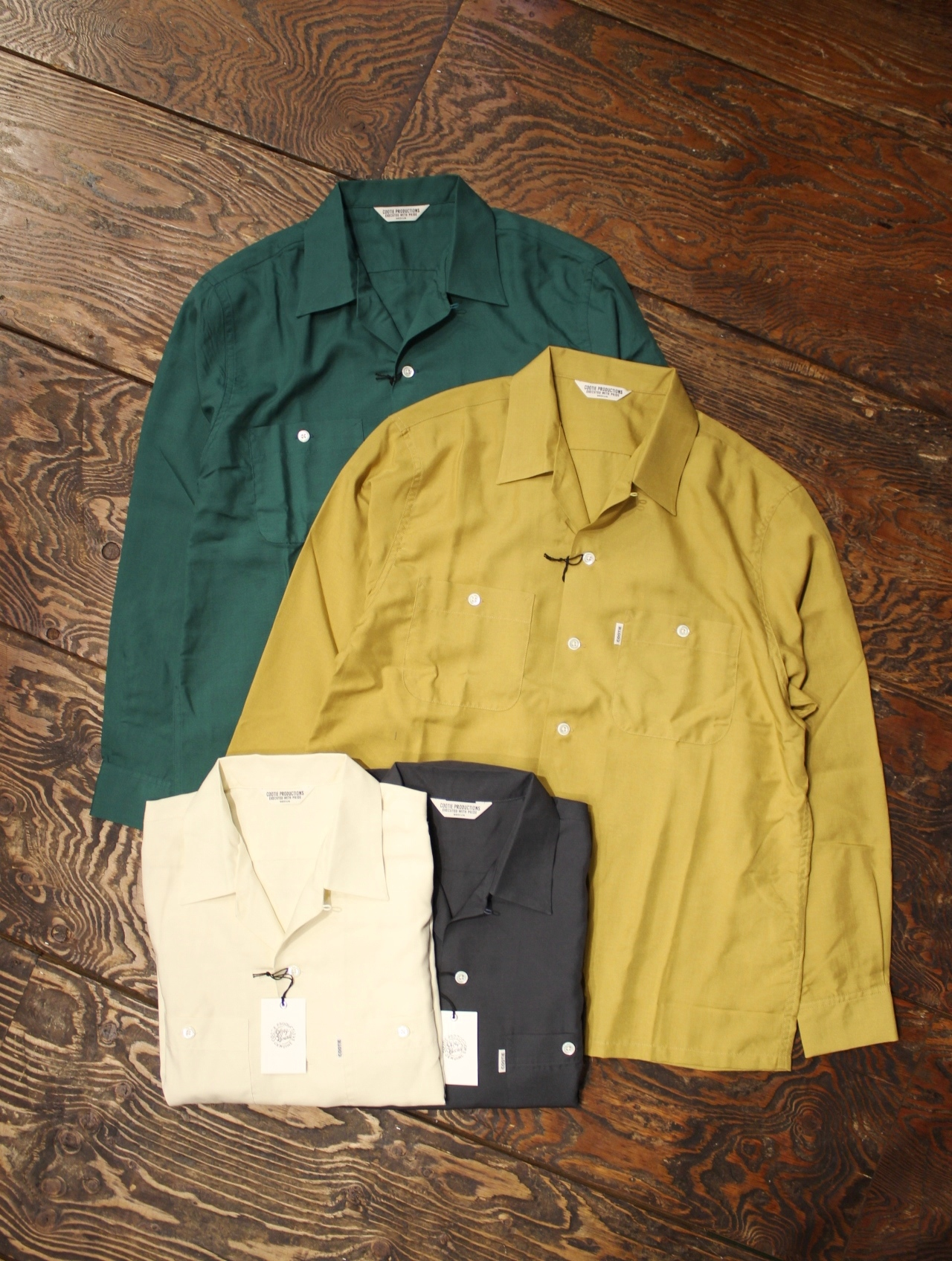 COOTIE  「Rayon Open-Neck L/S Shirt」  レーヨンシャツ