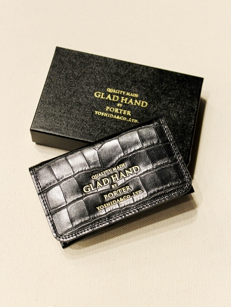 PORTER × GLAD HAND  「GH - BELONGINGS CARD CASE」  レザーカードケース