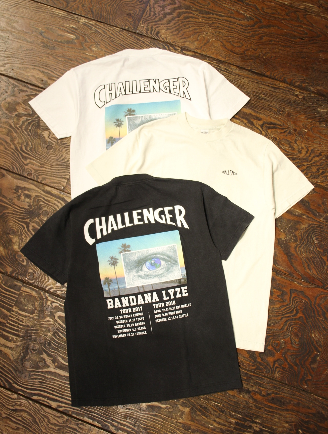 CHALLENGER    「EYE AND THE EARTH TEE」 プリントティーシャツ