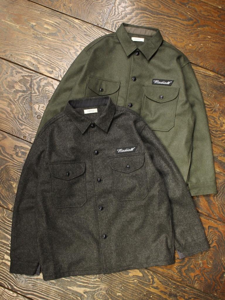 RADIALL  「FLAGS - REGULAR COLLARED SHIRT L/S」  CPOシャツジャケット