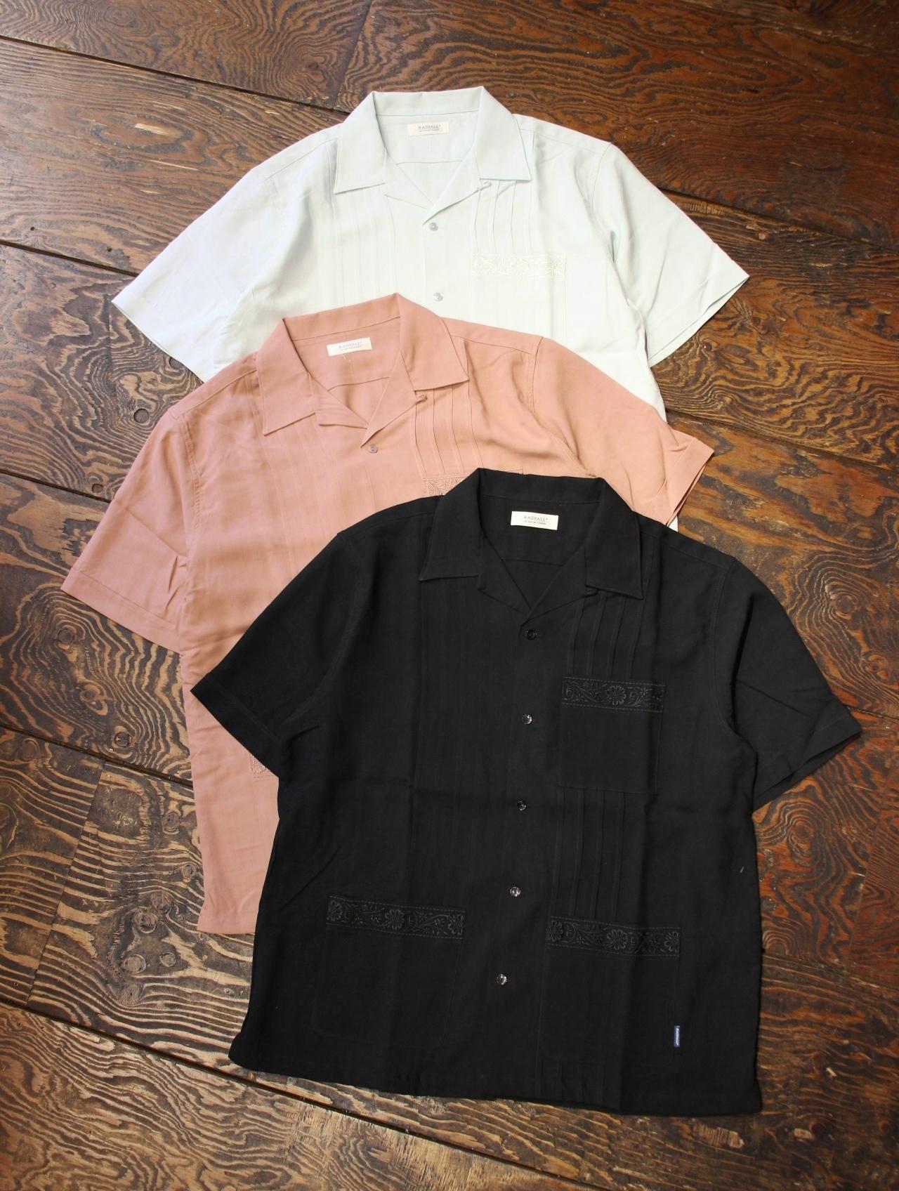 RADIALL  「MOJITO - OPEN COLLARED SHIRT S/S」  オープンカラーレーヨンキューバシャツ