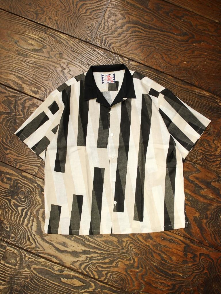 SON OF THE CHEESE  「GEO Shirt」  ジオメトリック柄 オープンカラーシャツ