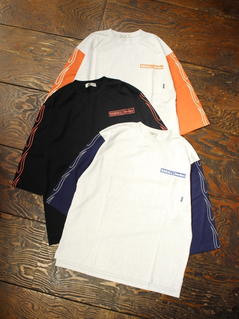 RADIALL  「FLAMES - CREW NECK POCKET T-SHIRT 3Q/S」  7分袖ティーシャツ