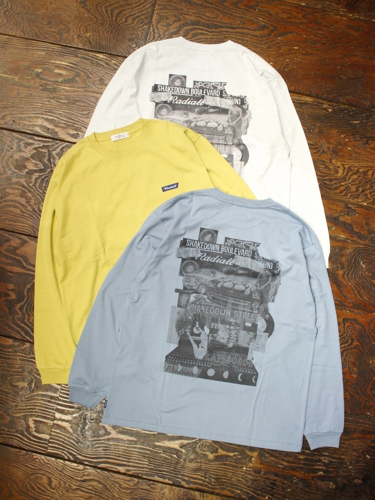 RADIALL  「SHAKEDOWN BOULEVARD - CREW NECK T-SHIRT L/S」  プリントロンティー