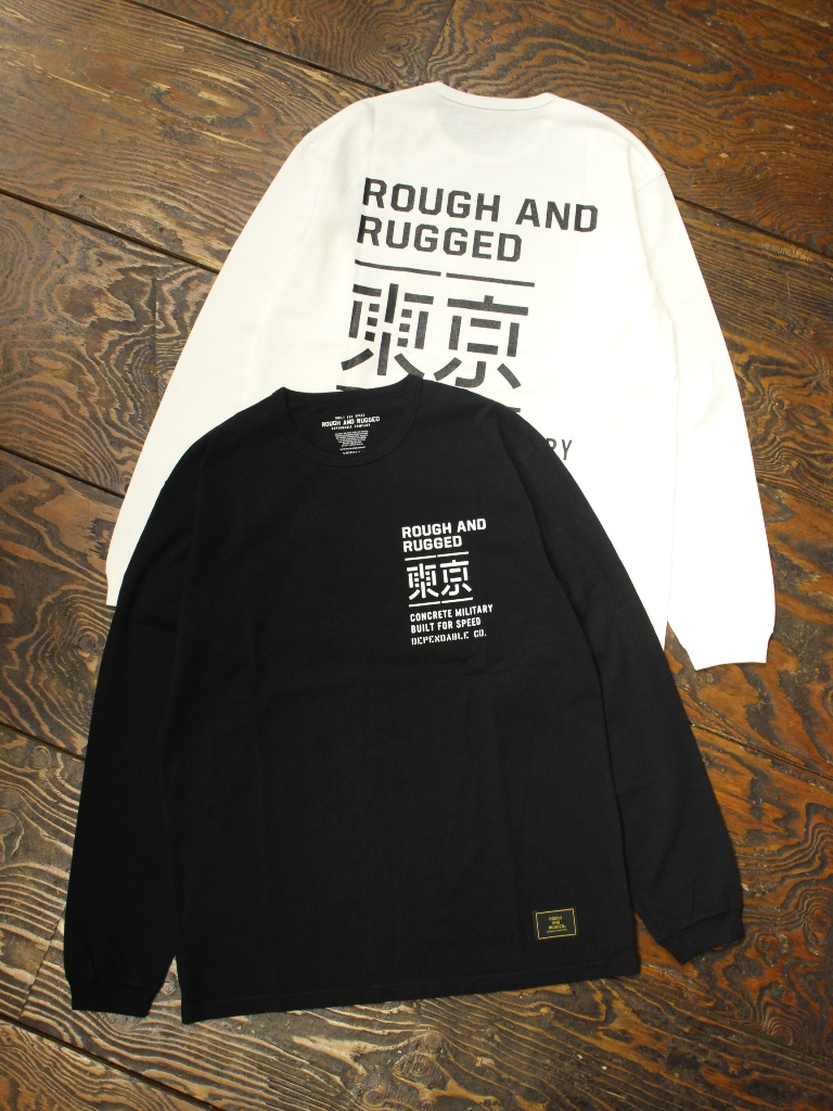ROUGH AND RUGGED   「DESIGN LS-01/TOKYO」  プリントロンティー