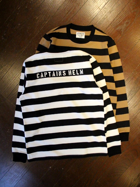CAPTAINS HELM  「#BORDER L/S TEE」 ボーダーロンティー
