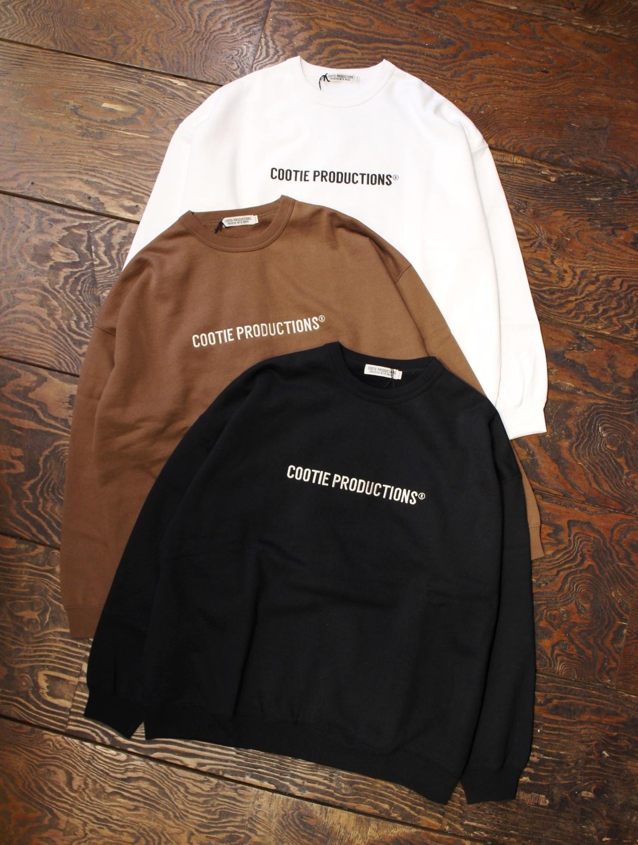COOTIE  「 Embroidery Crewneck Sweatshirt (COOTIE LOGO) 」 クルーネックスウェット