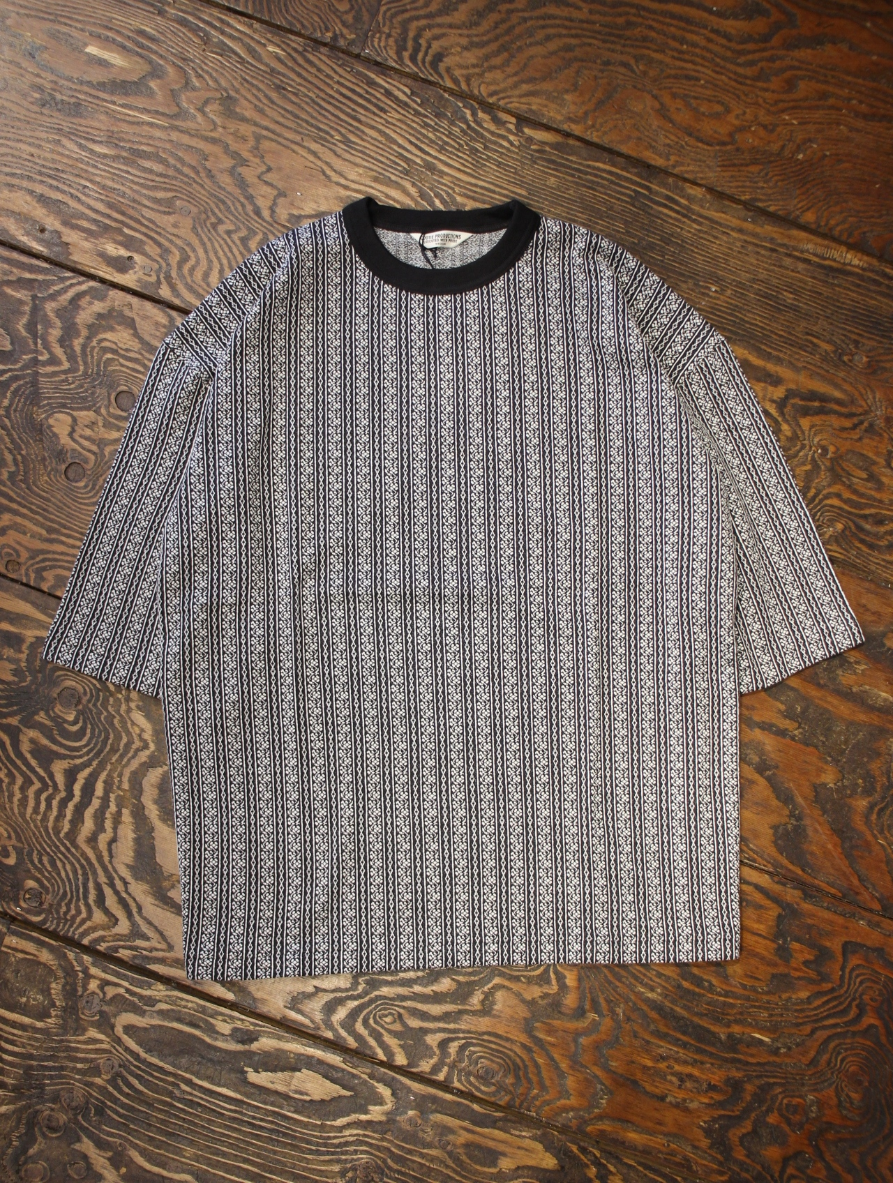 COOTIE  「 Jacquard Stripe Oversized S/S Tee」 ジャガードストライプオーバーサイズティーシャツ
