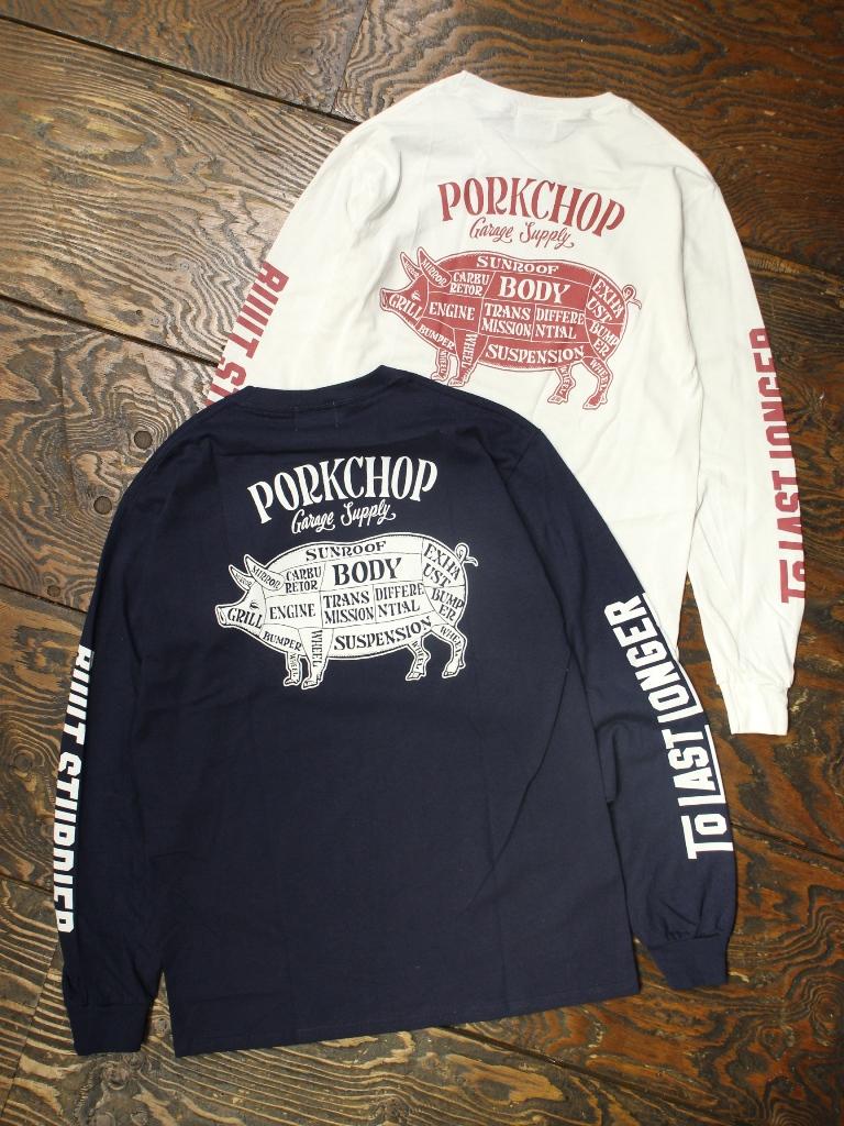 PORKCHOP GARAGE SUPPLY   「 PORK BACK L/S TEE 」  ロングスリーブティーシャツ
