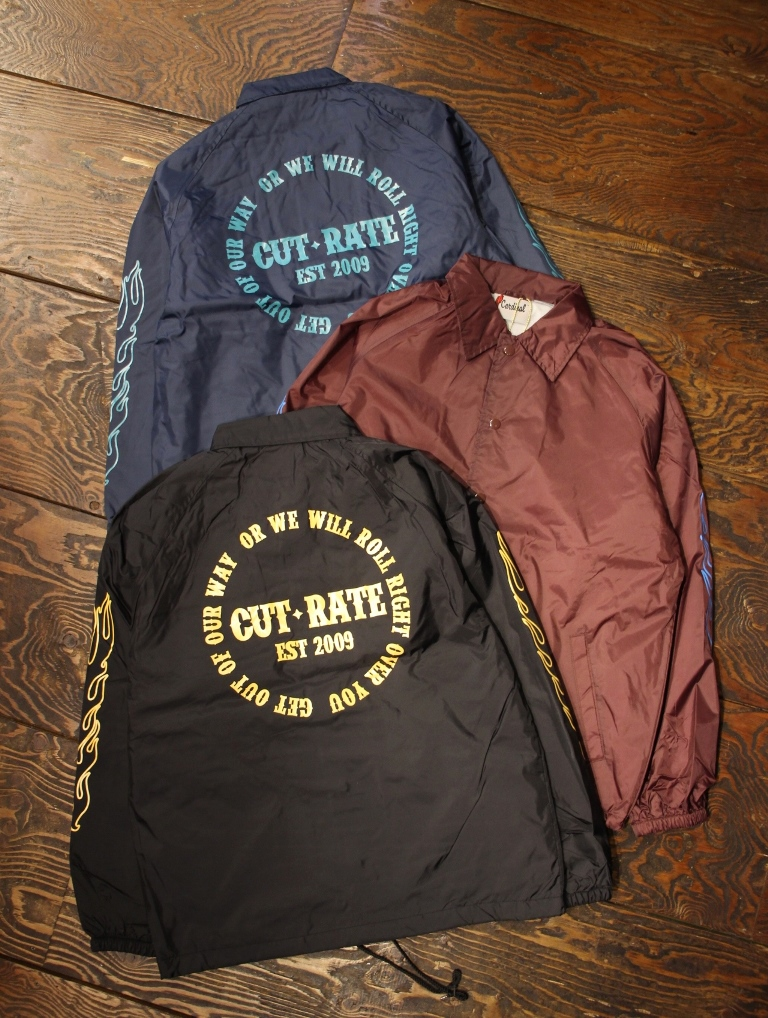 CUT RATE   「FLAME PATTERN COACH JACKT」  ナイロンコーチジャケット