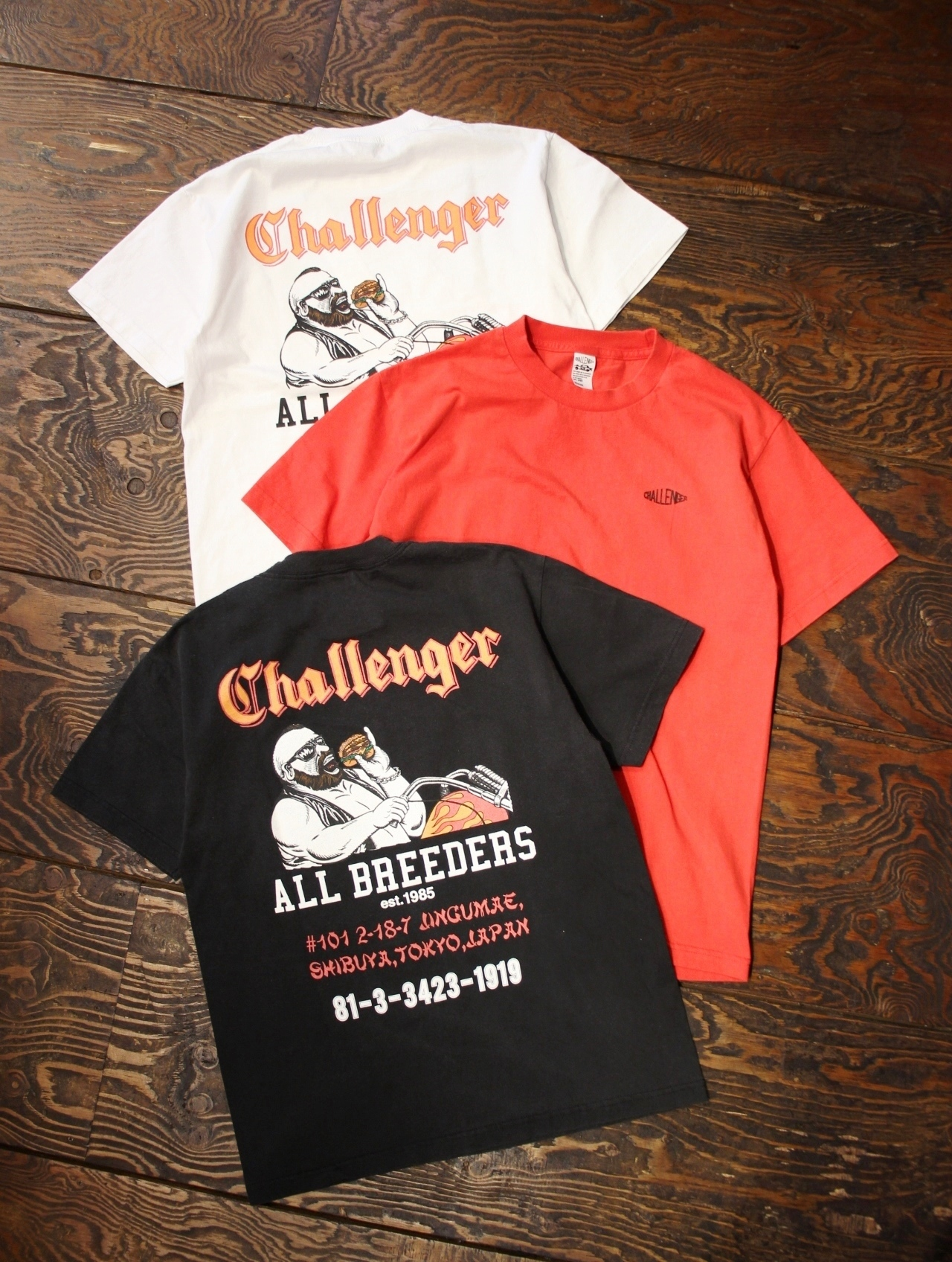 CHALLENGER  「 RIDE ON BURGER TEE 」 プリントティーシャツ