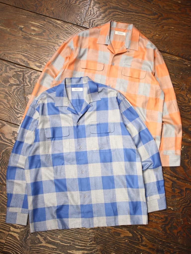 RADIALL  「LONG BEACH - OPEN COLLARED SHIRT L/S」  オープンカラーチェックシャツ