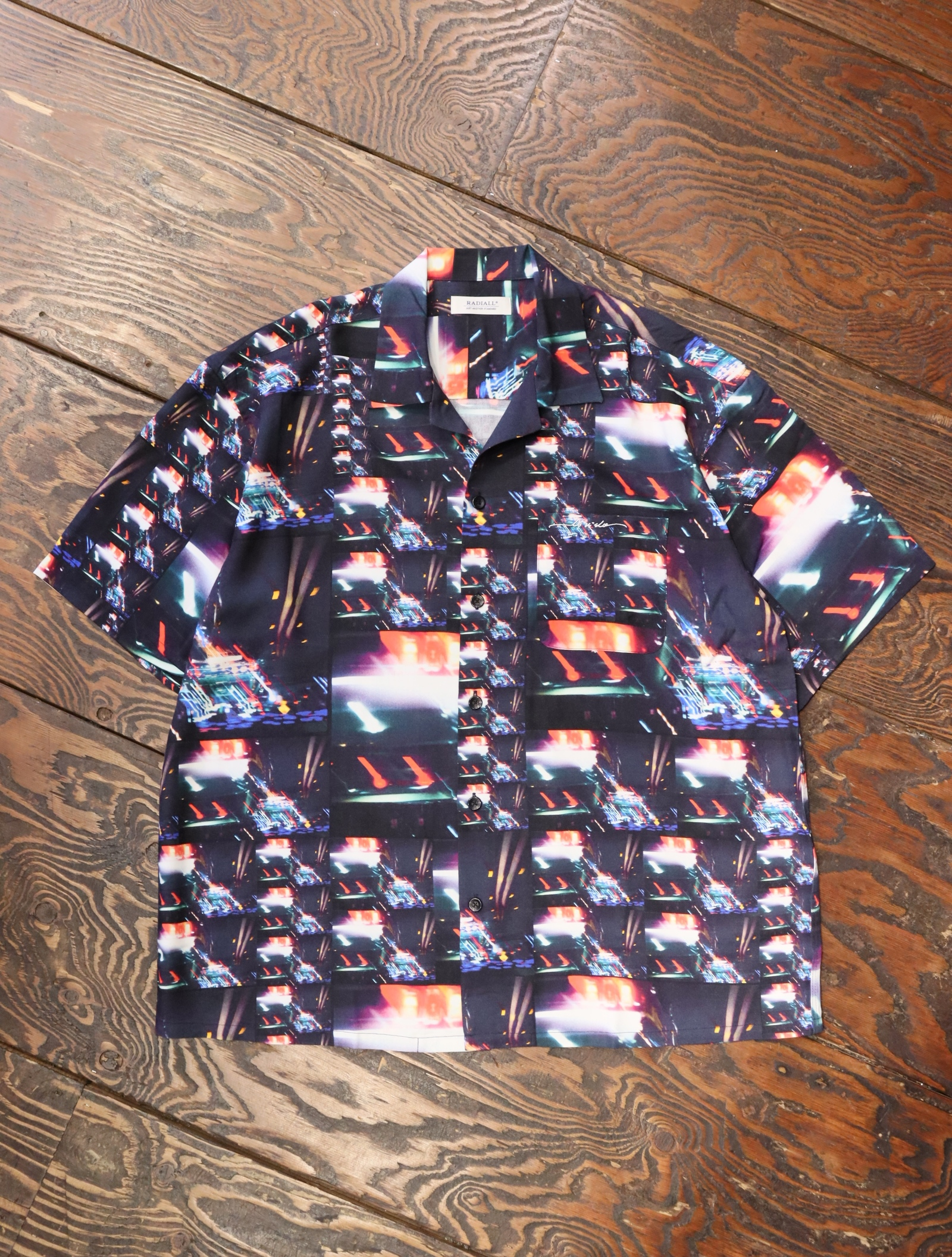 RADIALL  「LOW AND SLOW - OPEN COLLARED SHIRT S/S」  オープンカラーレーヨンシャツ