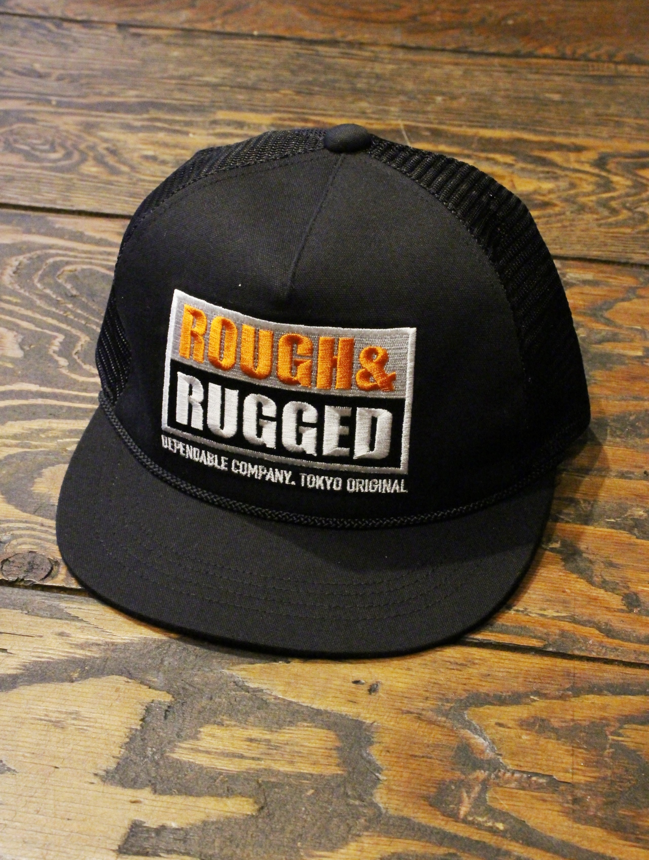 ROUGH AND RUGGED   「 DESIGN CAP-04 」 メッシュキャップ