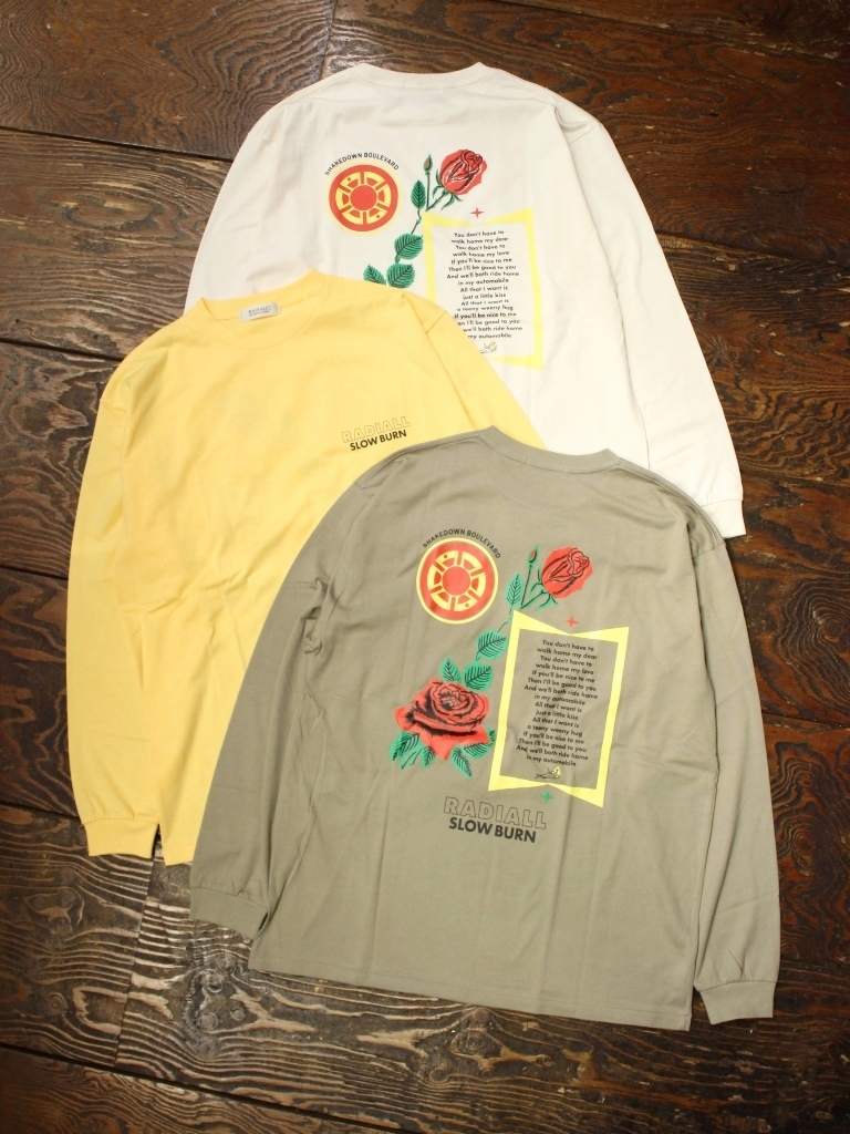 RADIALL  「SLOW BURN - CREW NECK T-SHIRT L/S」  プリントロンティー