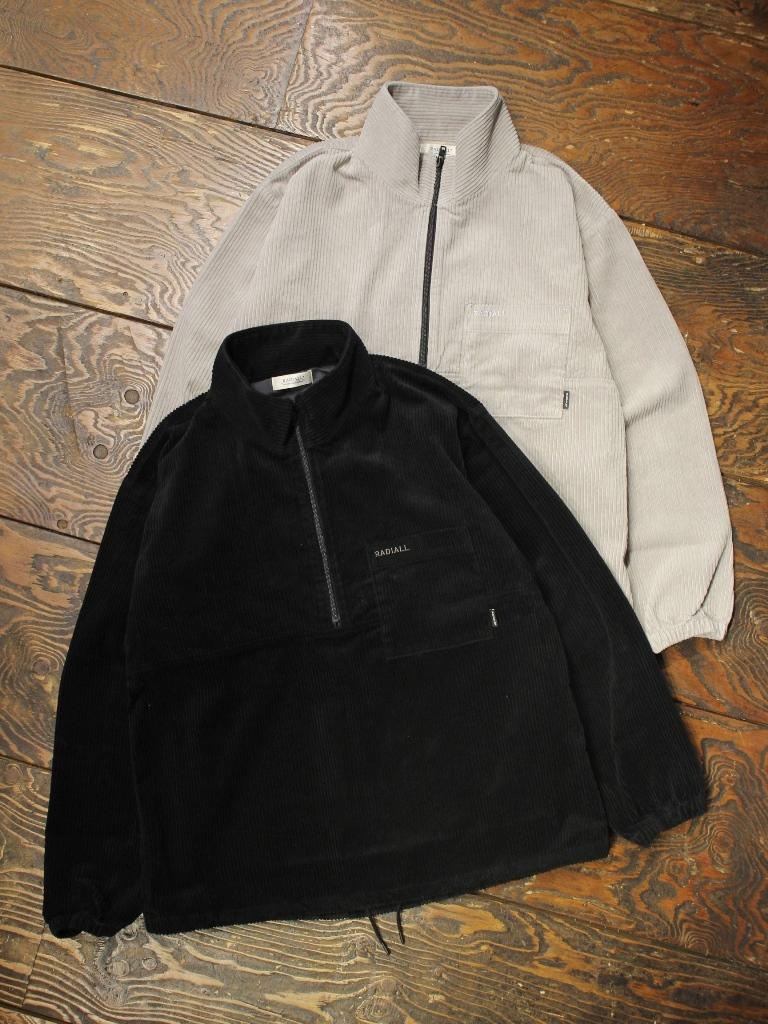 RADIALL  「TARIKA - PULLOVER STAND COLLARED SHIRT L/S」  コーデュロイ プルオーバースタンドカラーシャツ
