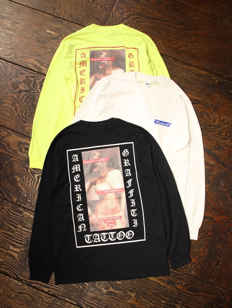 RADIALL    「USC - CREW NECK T-SHIRT L/S」 プリントロンティー