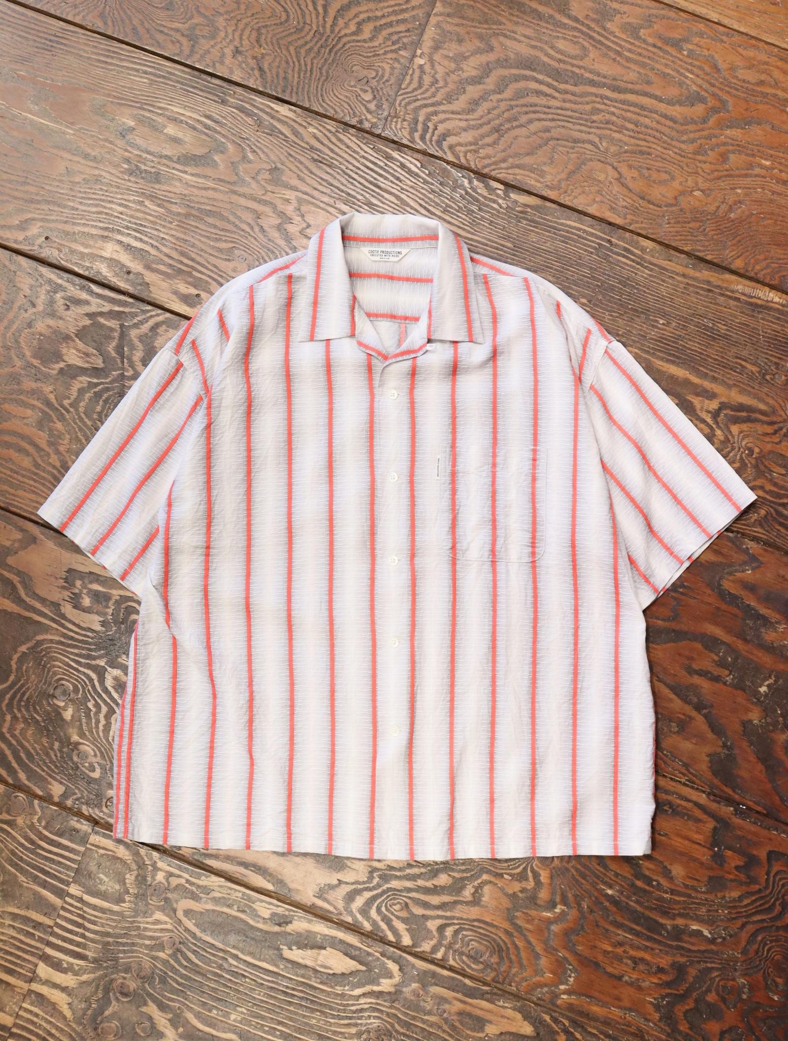 COOTIE  「 Snake Stripe Open-Neck S/S Shirt 」 オープンカラーストライプシャツ