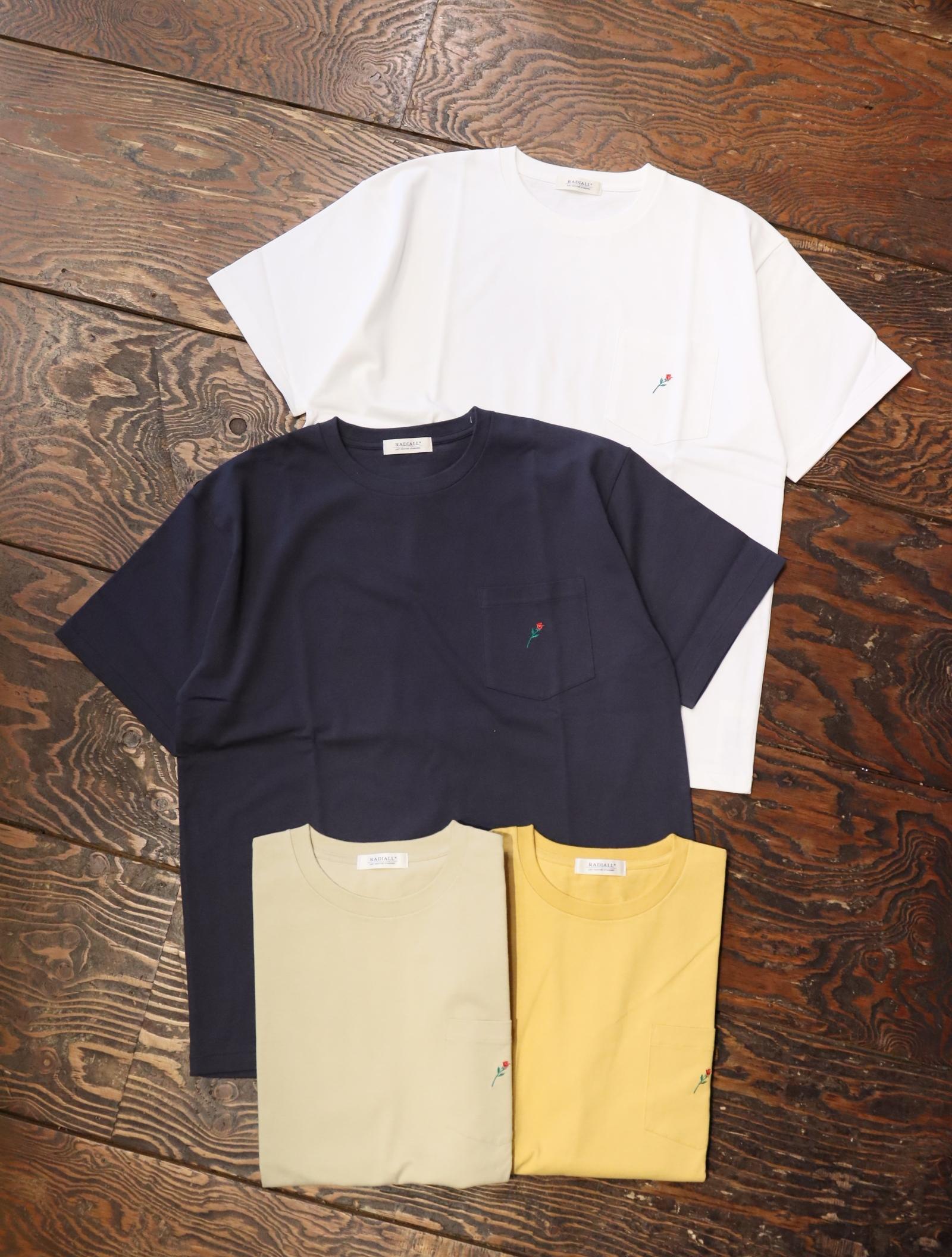 RADIALL  「ROSE - CREW NECK POCKET T-SHIRT S/S」  ポケットティーシャツ