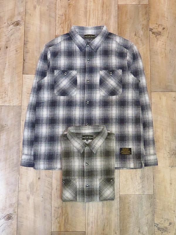 ROUGH AND RUGGED  「WALKEN-01」 ウールチェックシャツ