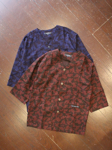 CAPTAINS HELM 「#PAISREY SEERSUCKER BB SHIRTS」 七分袖ベースボールシャツ