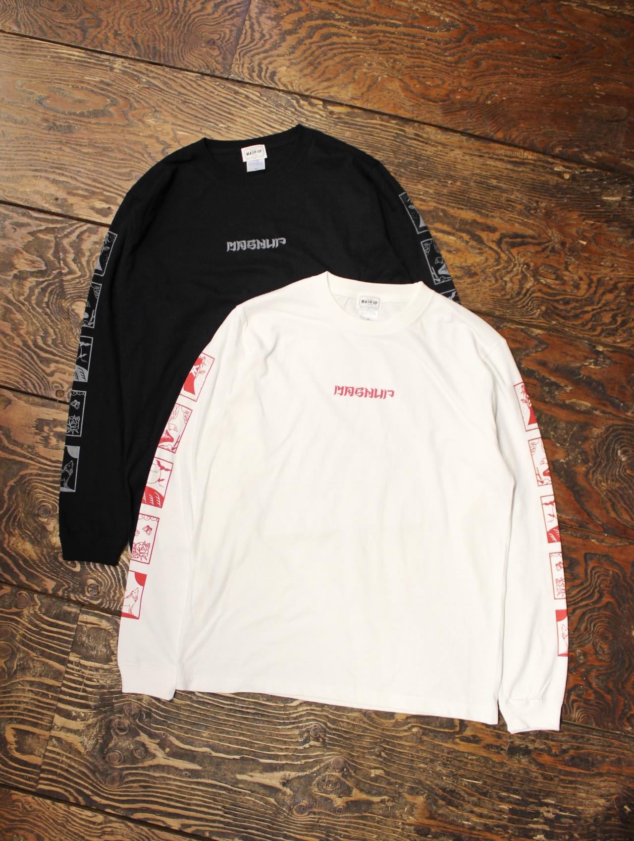 MASH UP 「SLEEVE ORIENTAL PRINT L/S T-SHIRT」 ロングスリーブティーシャツ