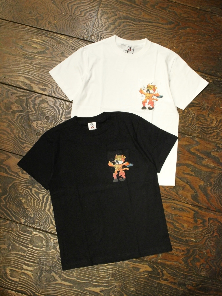 SOFTMACHINE  「CHICANO THE CAT-T」 ポケットティーシャツ