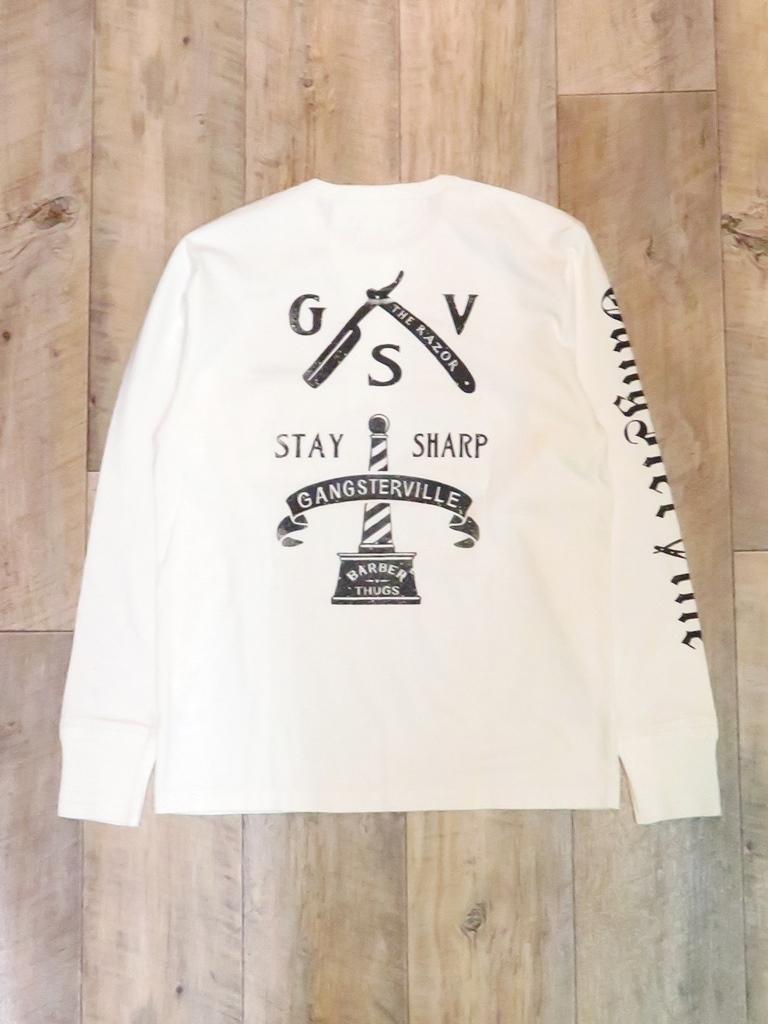 GANGSTERVILLE  「CLASSIC PARLOR - L/S HENLEY T-SHIRT」  ポケットヘンリーネックティーシャツ