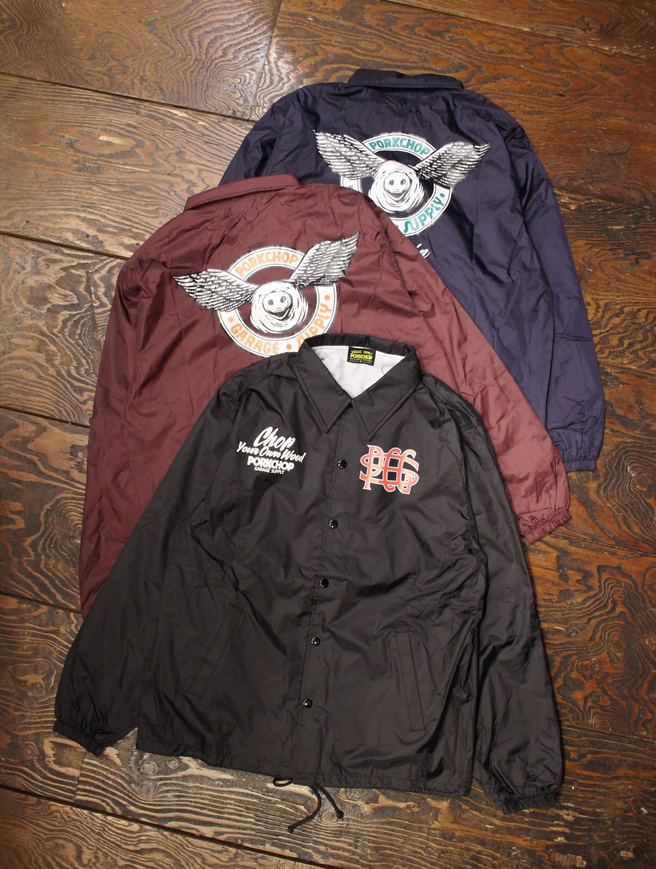 PORKCHOP GARAGE SUPPLY   「WING PORK COACH JKT 」  コーチジャケット