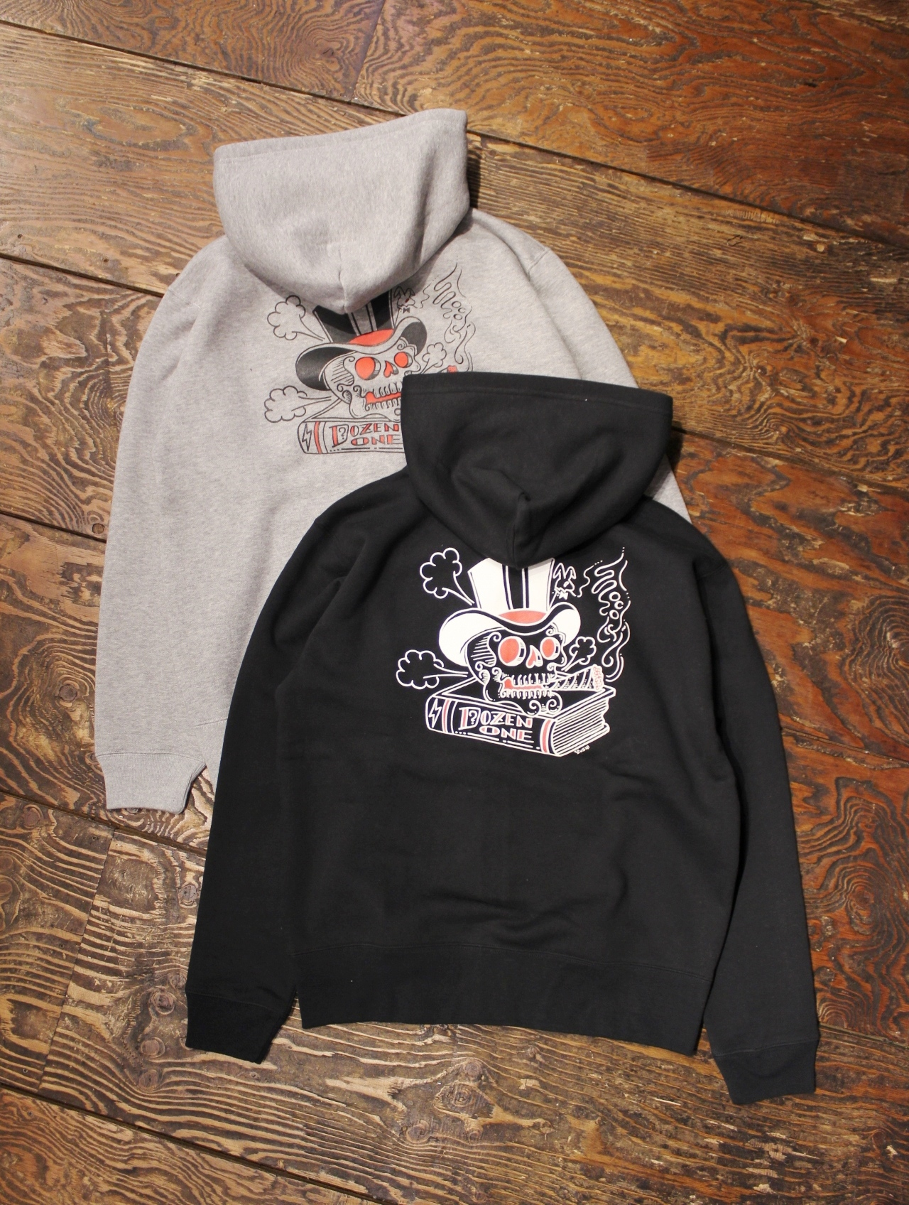 DOZEN ONE  「SKULL HAT ZIP HOODED」 ジップパーカー