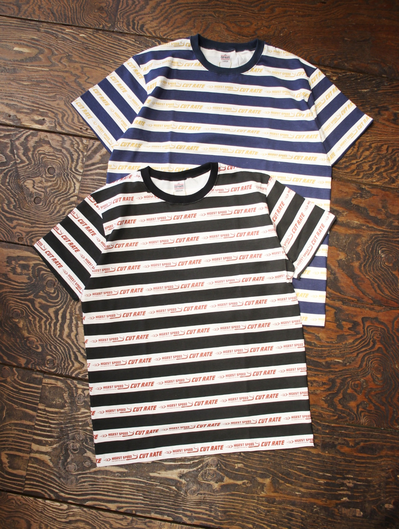 CUT RATE  「LOGO BORDER T-SHIRT」 ボーダーティーシャツ