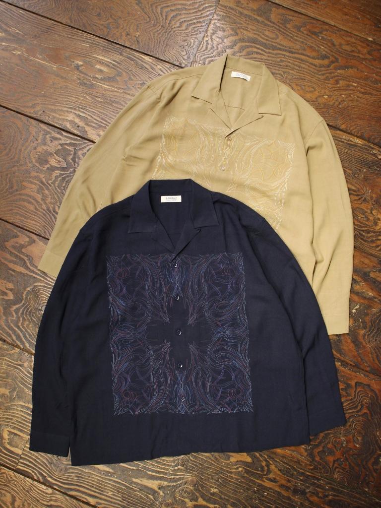 RADIALL  「KUNG-FU ROSE - OPEN COLLARED SHIRT L/S」  オープンカラーレーヨンシャツ