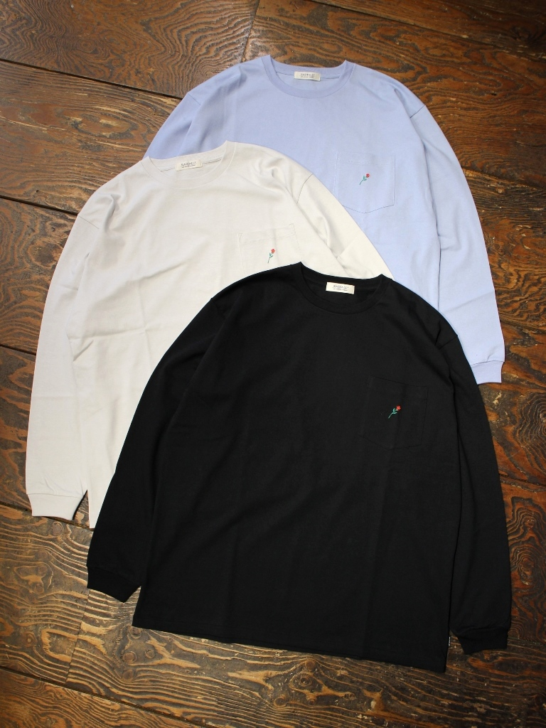 RADIALL  「ROSE - CREW NECK POCKET T-SHIRT L/S」  胸ポケット付きロンティー