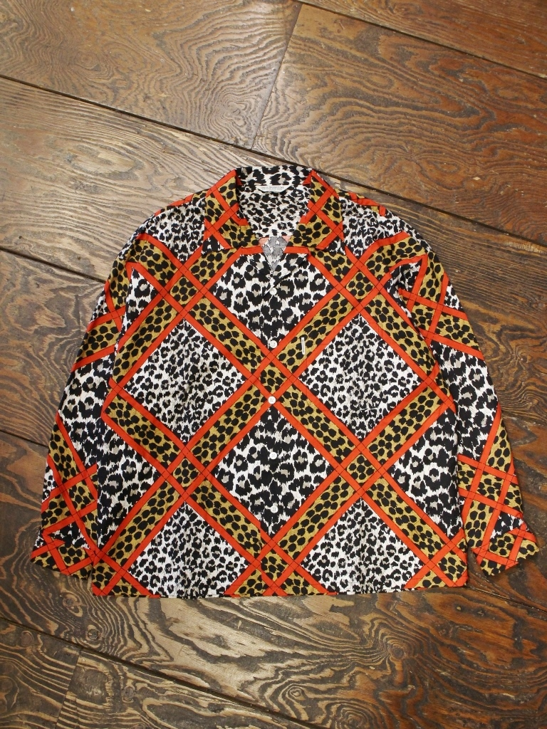 COOTIE  「Crazy Leopard Open-Neck L/S Shirt 」 オープンカラーシャツ