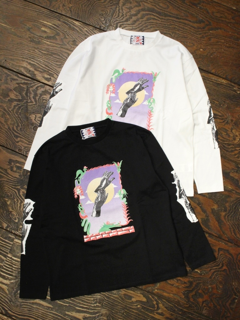 SON OF THE CHEESE × Sam Ryser  「Hands LS TEE」  プリントロンティー