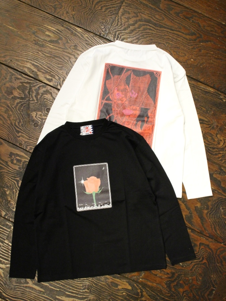 SON OF THE CHEESE × Sam Ryser  「Flower LS TEE」  プリントロンティー