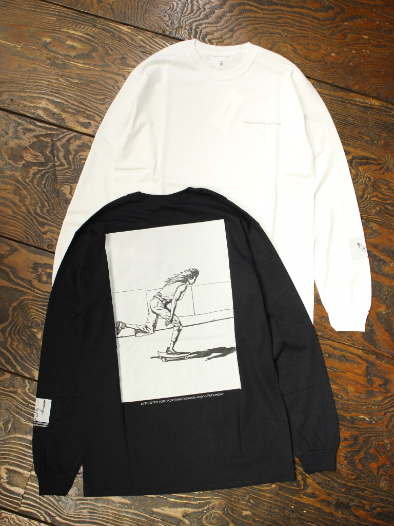 ROTTWEILER × Tadanobu Asano   「  Skater LS Tee 」  × 浅野忠信 プリントロンティー