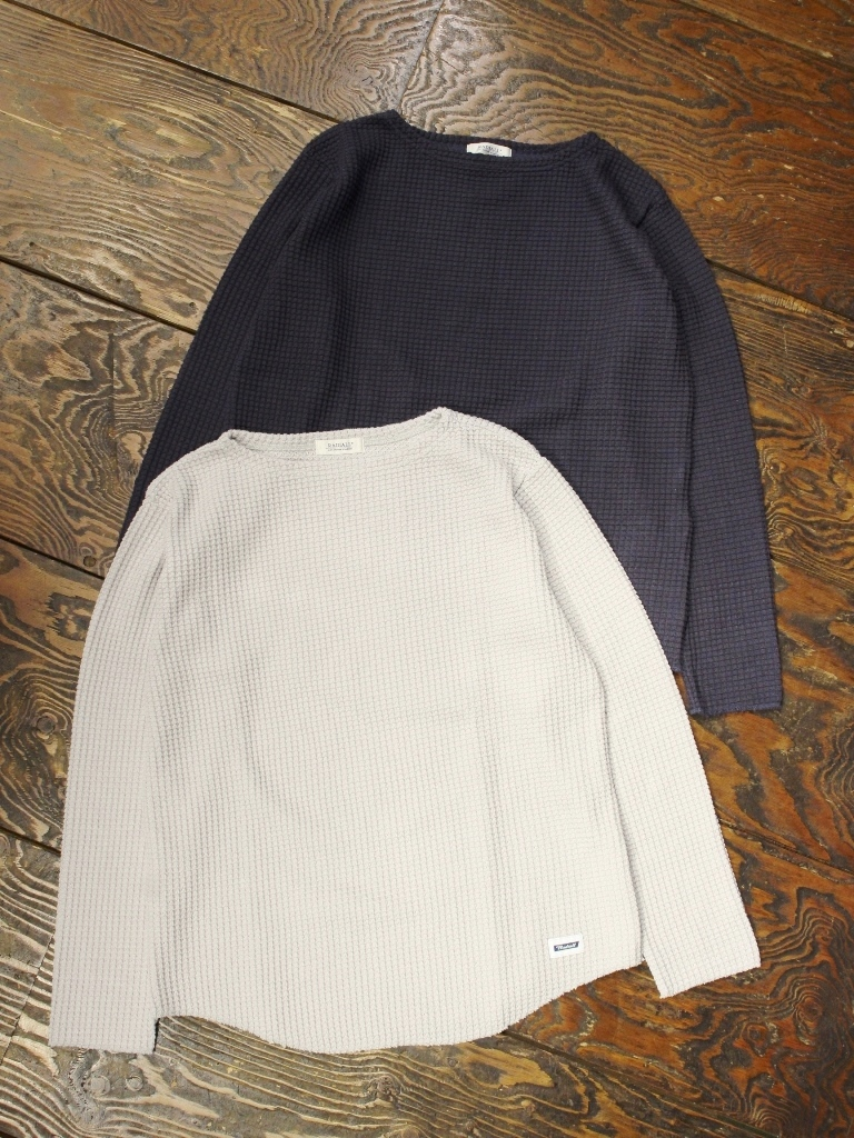 RADIALL 「BIG WAFFLE - BOAT NECK T-SHIRT L/S」 ボートネックワッフルロンティー