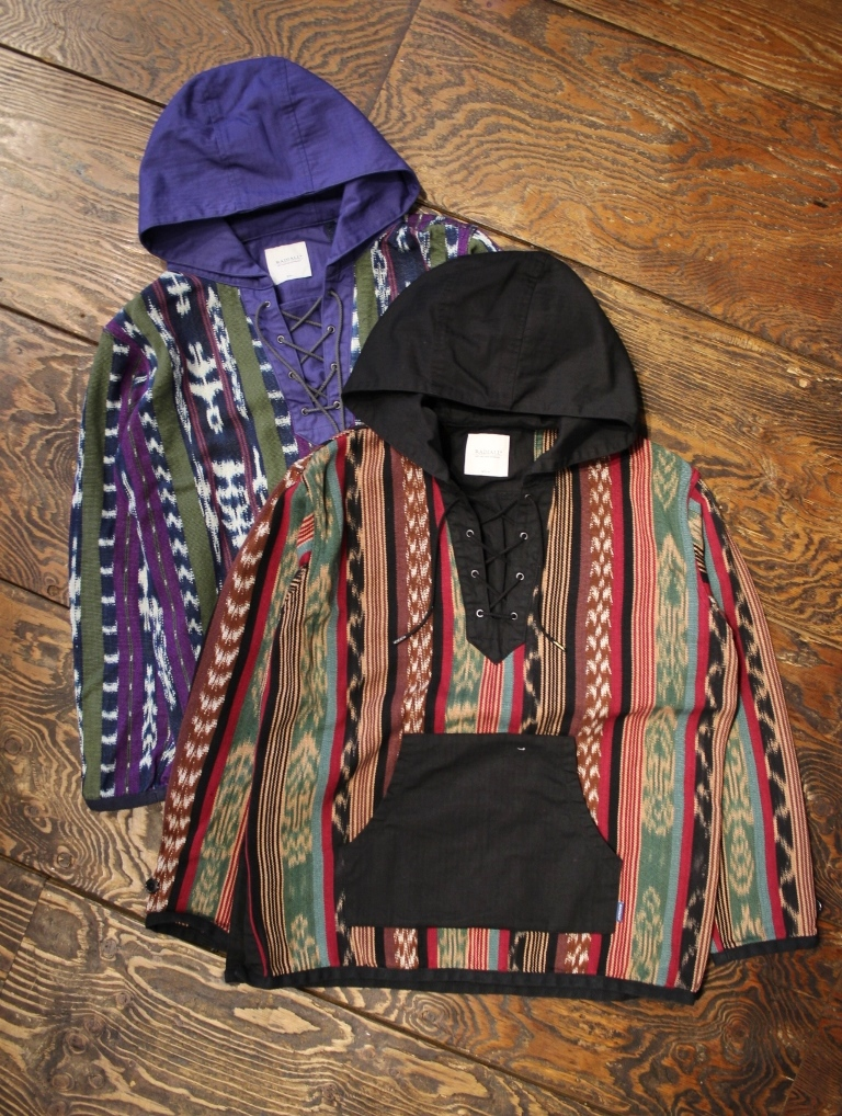 RADIALL    「COSMIC GIPSY - PULL OVER PARKA」  レースアップ パーカー