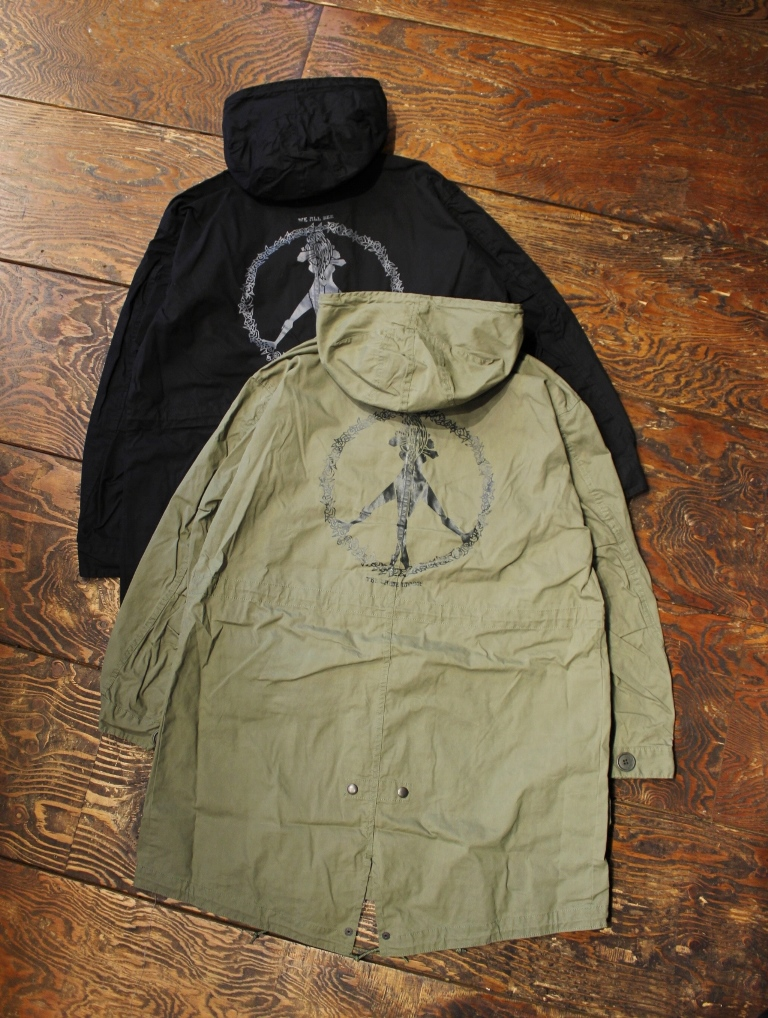 【 MASH UP 限定商品 】 RADIALL × MASH UP   「PRIMO - SCOOTER COAT <PRINTED>」   モッズコート