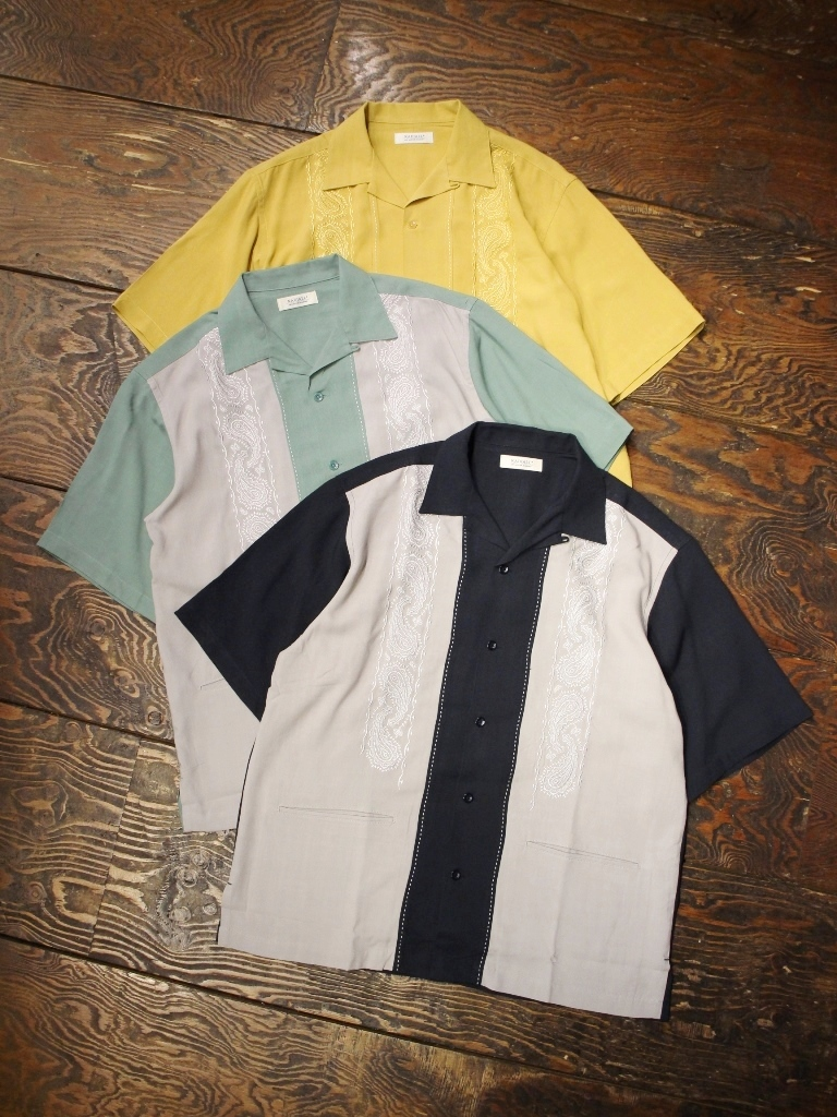 RADIALL  「ZENITH - OPEN COLLARED SHIRT S/S」  オープンカラーレーヨンシャツ