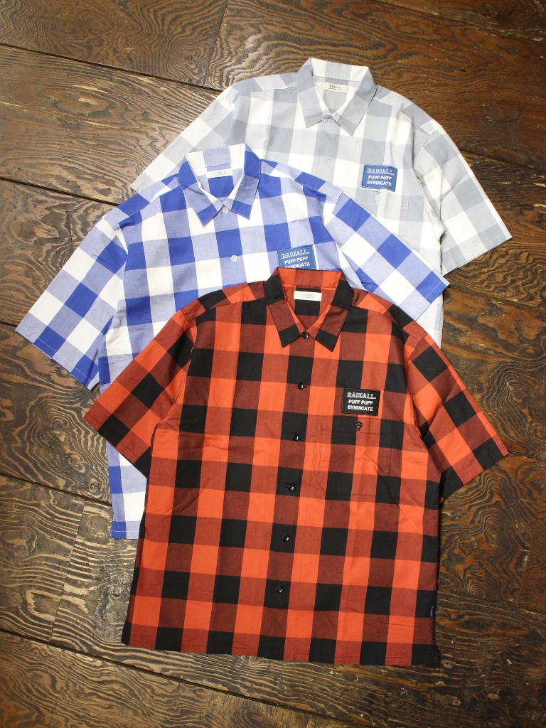 RADIALL  「SYNDICATE - REGULAR COLLARED SHIRT S/S」  レギュラーカラーチェックシャツ
