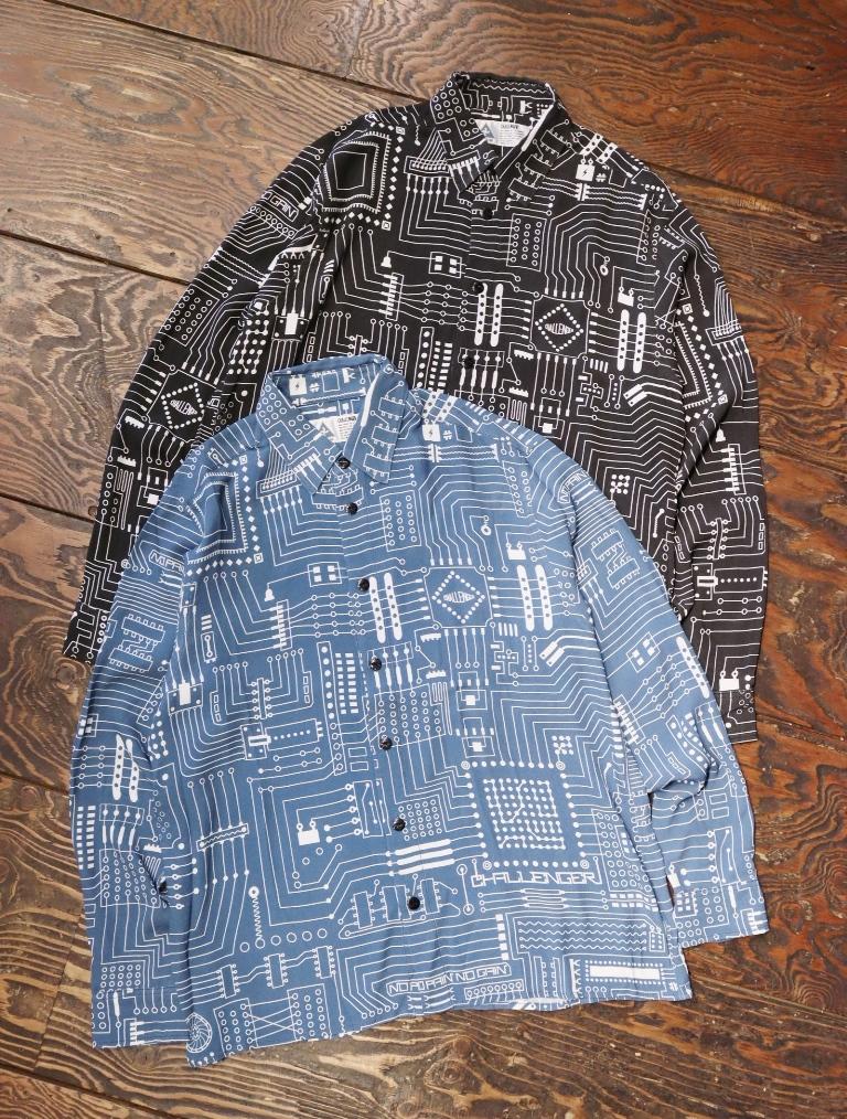 CHALLENGER    「L/S CIRCUIT SHIRT」  レギュラーカラーシャツ