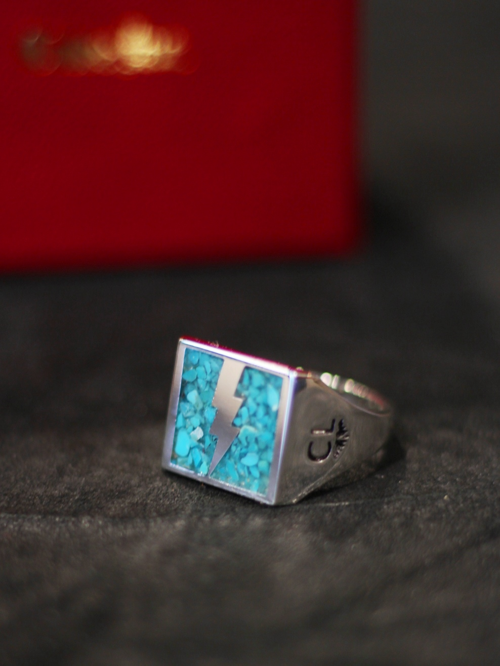 CALEE  「THUNDERBOLT TURQUISE RING 〈SILVER925 〉」 SILVER925製リング