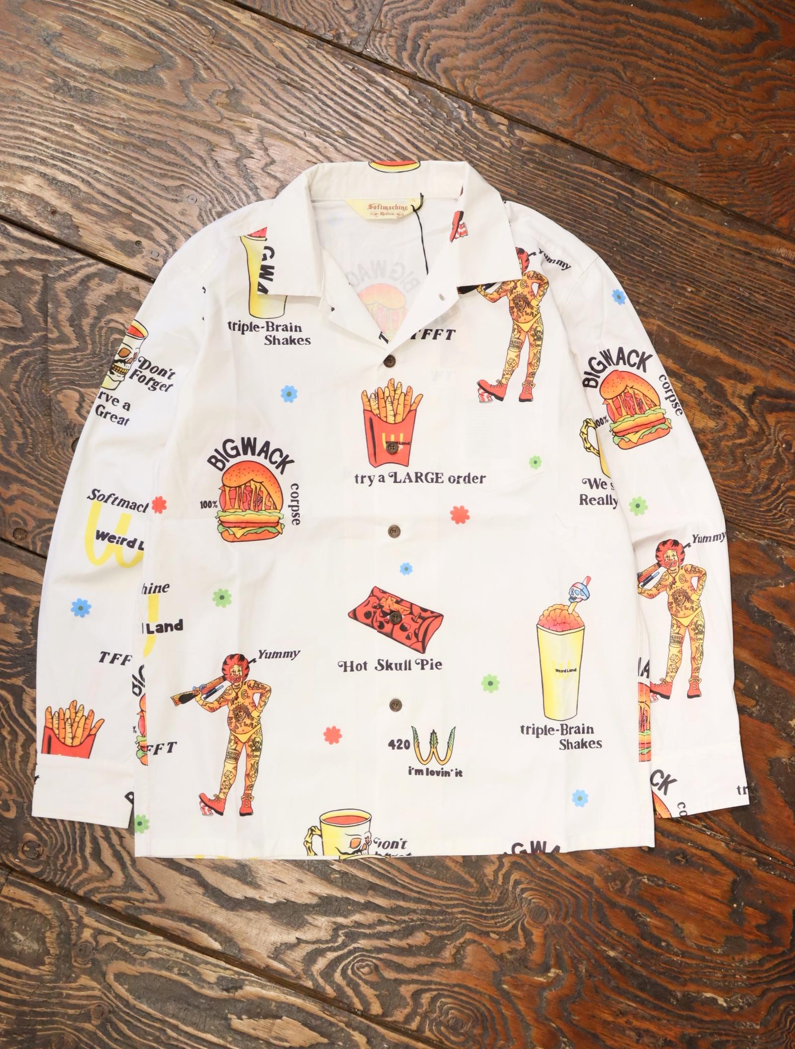 SOFTMACHINE  「LOVIN'IT SHIRTS L/S」 オープンカラーシャツ