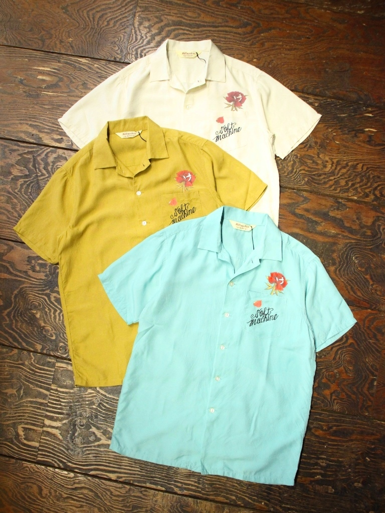 SOFTMACHINE  「OUT BLOOM SHIRTS S/S」オープンカラー レーヨンシャツ