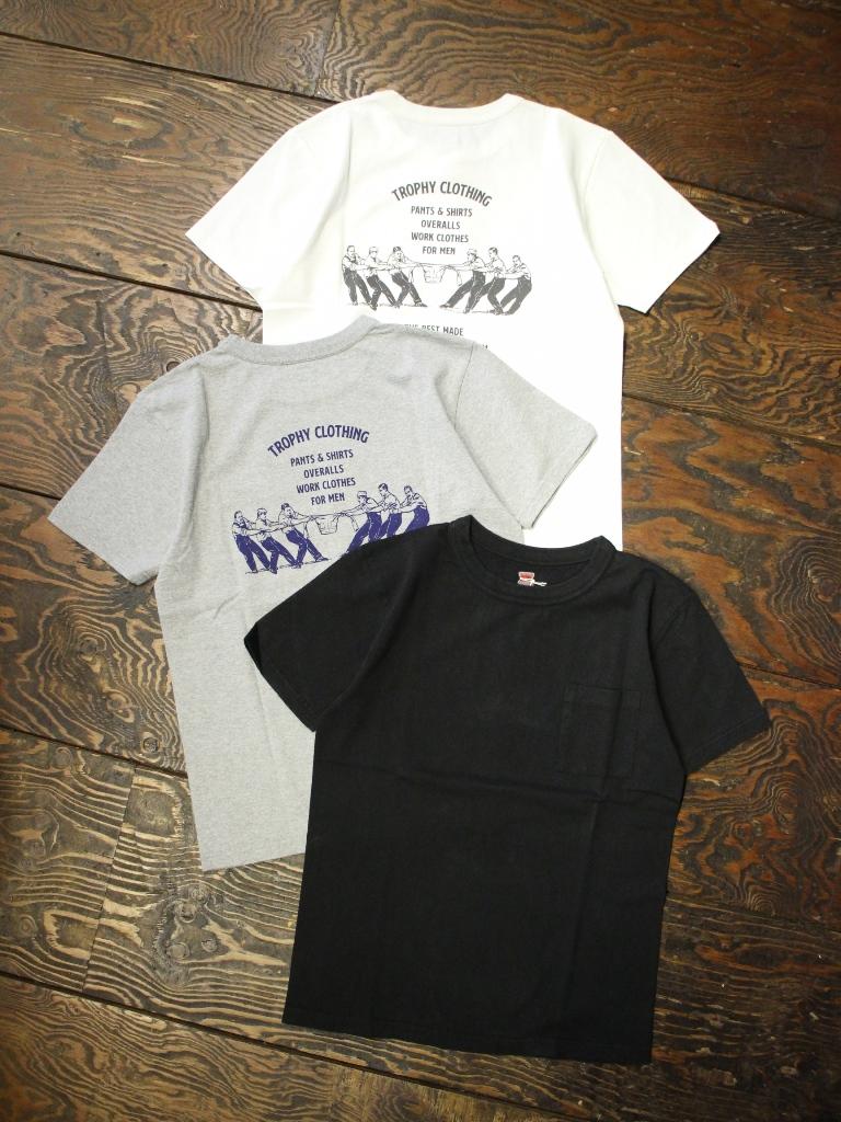 TROPHY CLOTHING  「Worker Logo W. Tee」 ポケットプリントティーシャツ