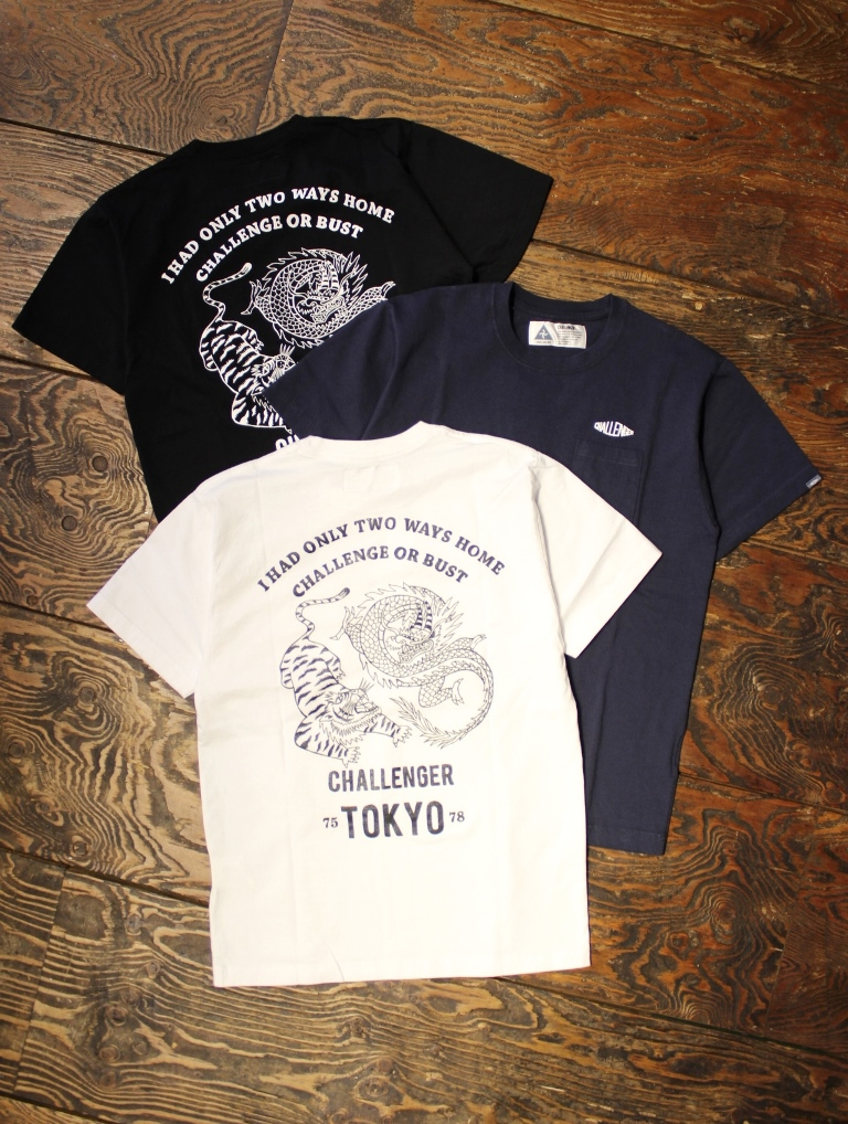CHALLENGER  「CHALLENGE OR BUST TEE」 プリントティーシャツ