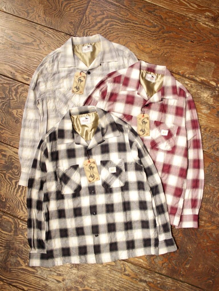 GANGSTERVILLE   「JAMES - L/S SHIRTS」   オープンカラーチェックシャツ